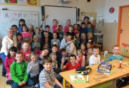 Děti čtou dětem aneb setkání dětí z MŠ a ZŠ