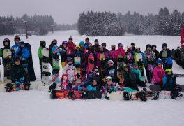 Výcvik na snowboardu v 7. ročníku