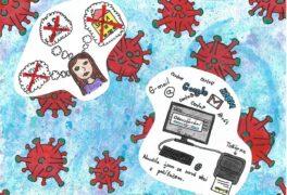 Výtvarné práce žáků II. stupně – ohlédnutí za školním rokem 2019/2020 – Co mi covid dal a vzal